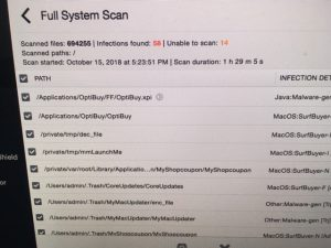 virus cleaning on a mac